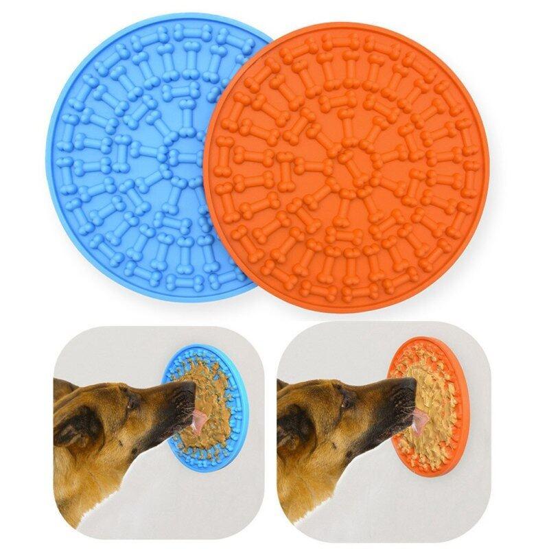 Mat Cho Chó Mèo Bát Thức Ăn Chậm S Họa Tiết Cún Cưng Mới Cho Ăn Bát Thức Ăn Silicone Chó Cho Ăn Click Pad Cho Ăn Chậm Công Cụ Điều Trị D3