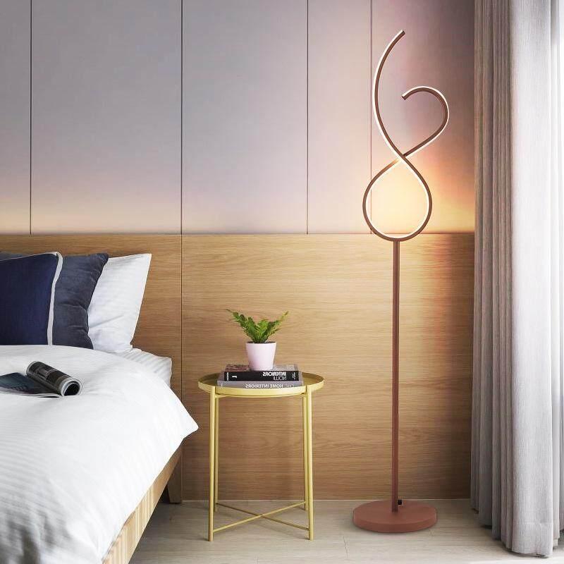 D25*H145cm Acrylic LED Floor Lamps Creative Line Personality Simple Decorative Lighting Fixture Living Room Bedroom Bedside Night Light Eye Table Lights - Warm Light