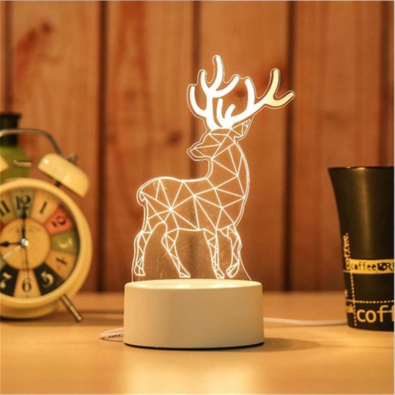 Bảng giá Sáng Tạo 3D Đèn Acrylic Đèn Ngủ LED Dễ Thương USB Cảm Ứng Bàn Để Bàn Kid Tặng