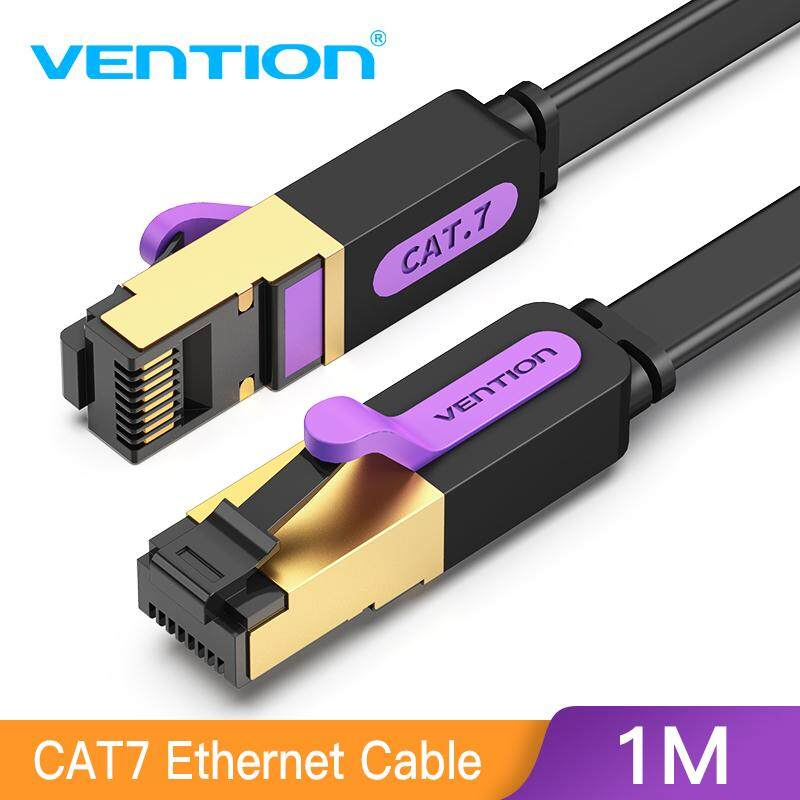 Cat7 Flat Ethernet Cable Lan Network RJ45 Shielded Patch Cable for PC Laptop PS4