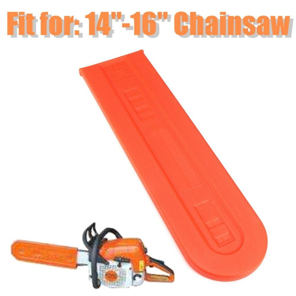 14 16 Chainsaw Bar Orange Cover Scabbard Protector Universal Guide Plate Set