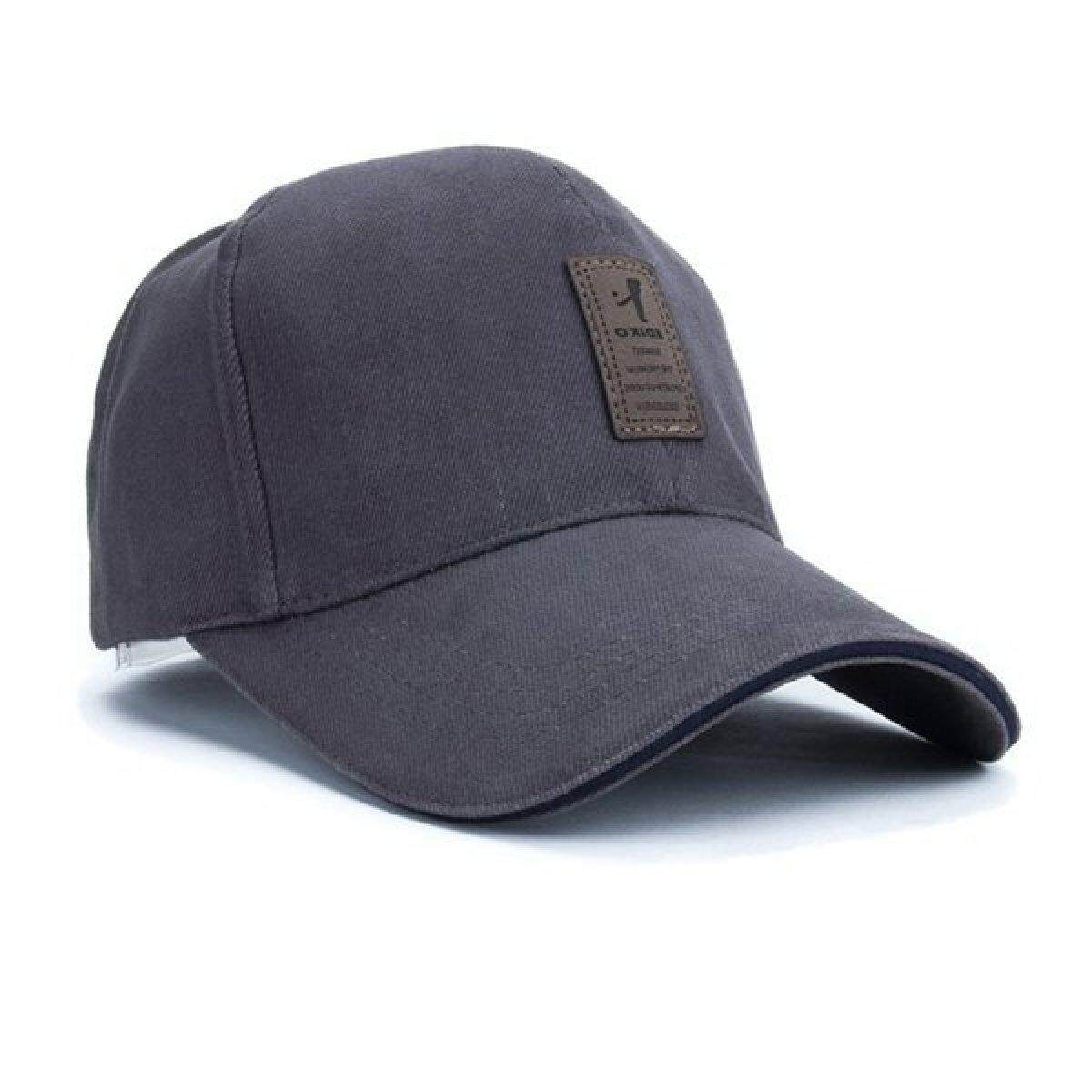 2018 Terbaik Jual Unisex Mode Topi Olahraga Bisbol Golf Snapback Outdoor  Sederhana Solid Topi (Abu dd7b8f5282