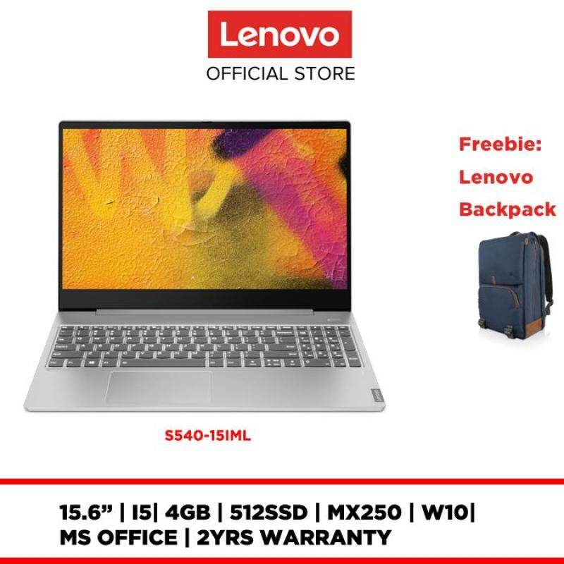 LENOVO NOTEBOOK LAPTOP IDEAPAD S540-15IML 81NG0068MJ/81NG0069MJ 15.6FHD|I5|4GB|512SSD|MX250|W10|MS OFFICE|2YRS WARRANTY|FREE BACKPACK Malaysia