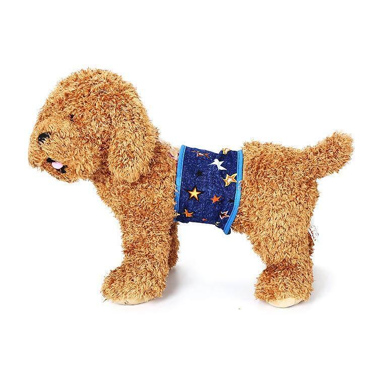 5 CÁI Thú Cưng Tã Có Thể Tái Sử Dụng Siêu Bảo Vệ Chó Bông Bụng Ban Nhạc Chó Quấn Tã Miếng cho Thú Cưng, L - 3
