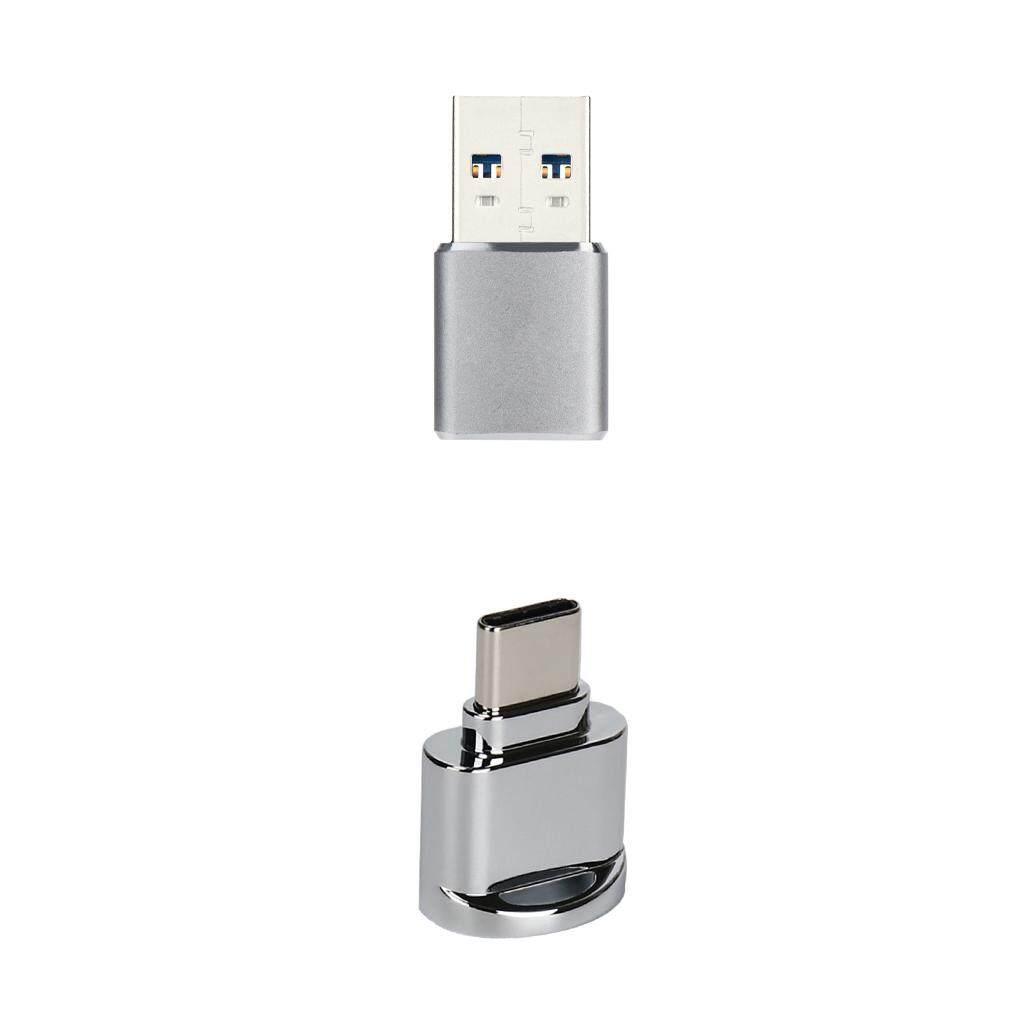 Gazechimp Memory Card Reader Type-c+USB3.0 Mini Sliver for Micro SD SDHC SDXC