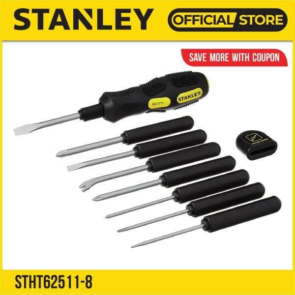 Stanley STHT62511-8 (62-511) 9 Way Cushion Grip Screwdriver 9Way (10-Piece)