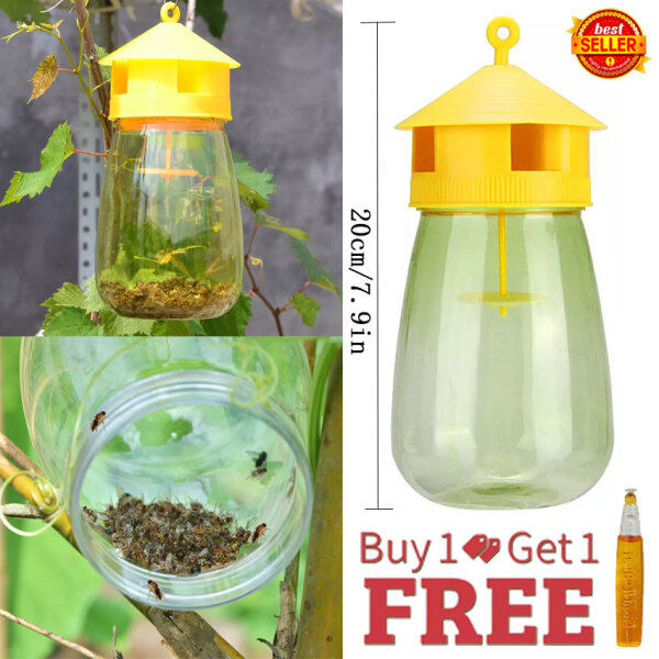 SilyNew Fly Fruit Trap, Fruit Fly Catcher with One Natural Non-Toxic Fruit Fly Lure Garden, Farm, Home, Fruit Shop