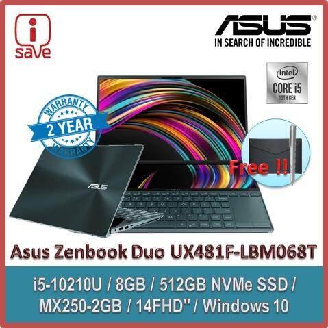 ASUS Laptop Zenbook DUO UX481F-LBM068T 14  FHD Celestial Blue ( I5-10210U, 8GB, 512GB, MX250 2GB, W10 ) Malaysia