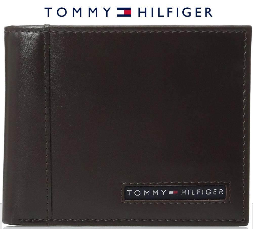 1d2854aa24 Tommy Hilfiger Men's Leather Cambridge Passcase Wallet with Removable Card  Case gift box (BROWN)