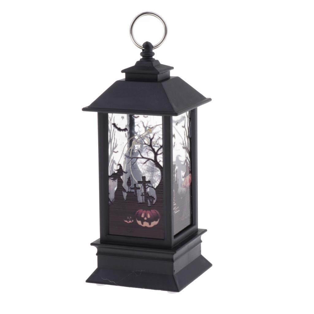 Perfk 5pcs Vintage Style Candle Lantern Light For Hallowen Desktop Decoration