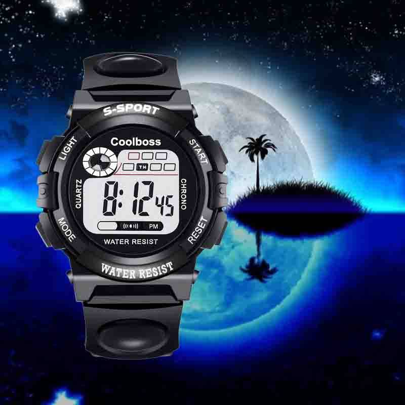 Sport Watch For Kids ,Jam Tangan Kanak Kanak,LED Digital Watch For Kids Boy, Electronic Kids Watch For Boy Girl Gift PU Strap, Jam Digital Jam Tangan Budak Malaysia