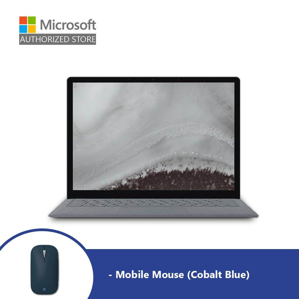 Microsoft Surface Laptop 2 - Platinum (i5/8GB/256GB/13.5-inch) + Mobile Mouse (Cobalt Blue) Malaysia