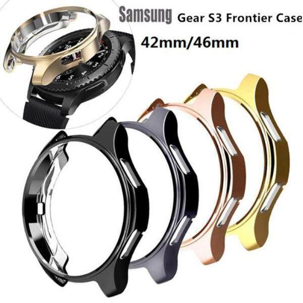 Ốp Cho Samsung Galaxy Watch 46Mm 42Mm/Gear S3 Frontier Phụ Kiện Đồng Hồ Thông Minh Mềm Ốp Bảo Vệ Vỏ Kim Cương Mạ