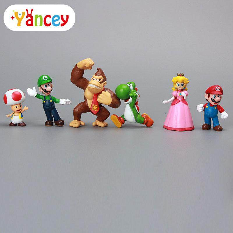 Super Mario Bros 18 pcs Action Figure Doll Playset Figurine Gift High Quality
