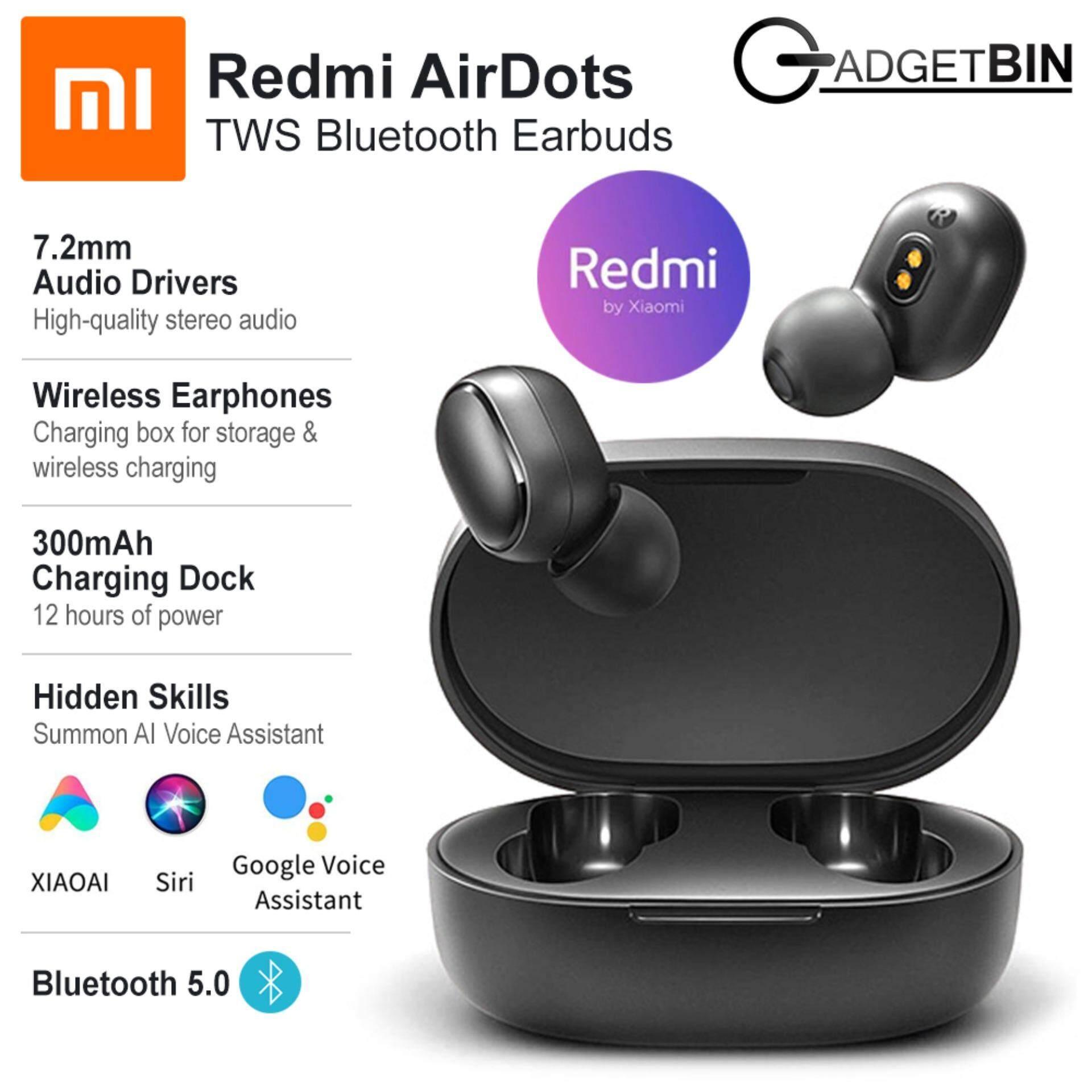 Xiaomi Mi Redmi Airdots หูฟังบลูทูธไร้สายอัจฉริยะ สเตอริโอบลูทูธ 5.0 ชุดหูฟังขนาดเล็กพร้อมไมโครโฟนหูฟัง.