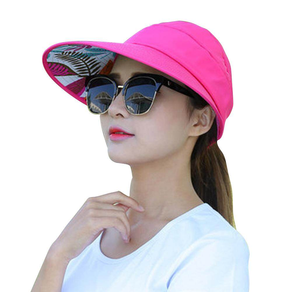 cb1198ea9dcc3 Product details of Speed Summer Sun Protection Folding Sun Hat for Women  Wide Brim UV Protection Sun Hat Outdoor Beach Packable Visor Cap -intl