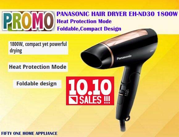 PANASONIC HEAT PROTECTION HAIR DRYER EH-ND30 1800W