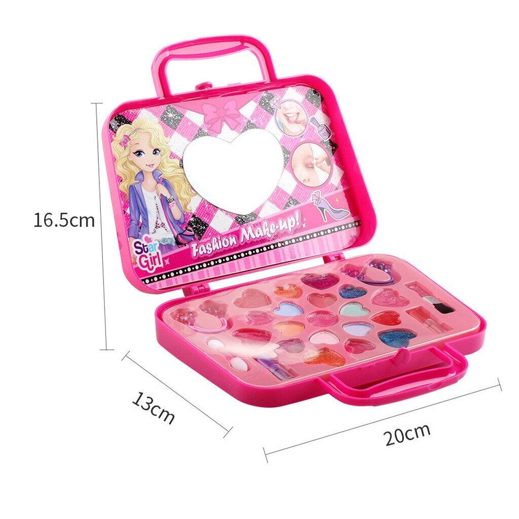 Portable Princess Girls Simulation Dressing Table Makeup Toy Cosmetics Party Performances NON TOXIC Deluxe Makeup Tool Kit Sets