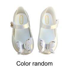 Hàng Đầu Giao Dịch Đầy Màu Sắc LED Ánh Sáng Cô Gái Dép Công Chúa Nơ Giày Giày Trẻ Tập Đi Có Đèn Flash PVC