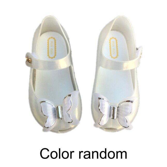 Hàng Đầu Giao Dịch Đầy Màu Sắc LED Ánh Sáng Cô Gái Dép Công Chúa Nơ Giày Giày Trẻ Tập Đi Có Đèn Flash PVC giá rẻ