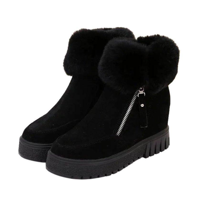 Oh Wanita Musim Dingin Sepatu Bot Pergelangan Kaki Tebal Sole Sepatu Alas Kaki Sepatu Bot Yang Hangat