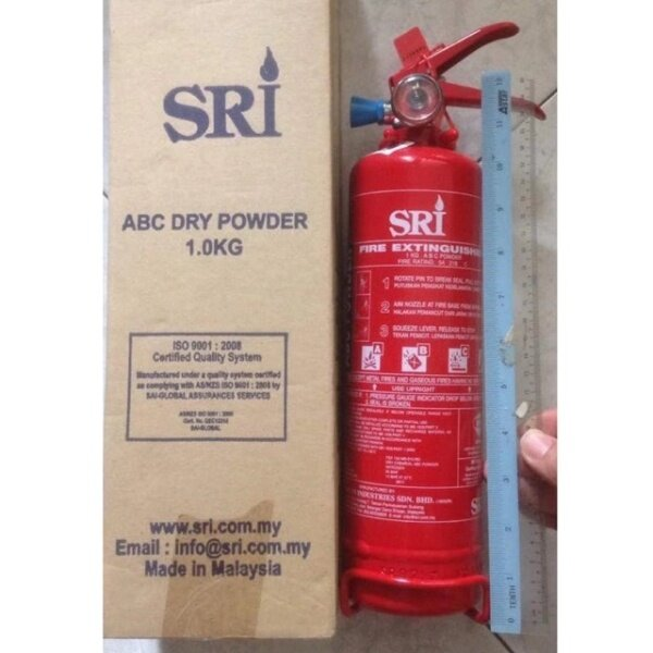 【SRI 1KG】Fire Extinguisher 1KG Dry Powder  #Suitable for car and house
