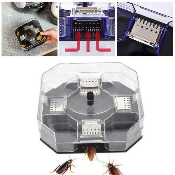 Roach Killing Bait , Large Roach Bait Station , Kills the Nest , Child-Resist  , Insect Bug Trap Catcher Cockroach  i Bed Bug Flea Tools Safe for Kids Pets Pest Killer \ Max connect store