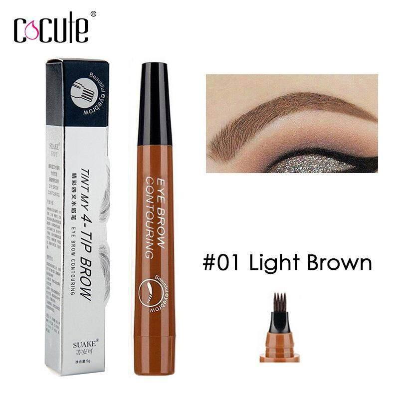 Cocute Microblading Eyebrow Pencil Tint 4 Tip Liquid Brow Tattoo Pen 5 Colors Paint Makeup Eyebrows Waterproof Cosmetic Eye brow Liner giá rẻ