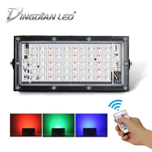DINGDIAN LED AC220V LED RGB Siêu Sáng Chống Nước 16 Màu Thay Đổi Ngoài Trời Chống Thấm Nước 50W Hoàn Hảo Điện Điều Khiển Từ Xa Cảm Ứng Chống Cận Thị đèn LED Nhiều Màu Đèn
