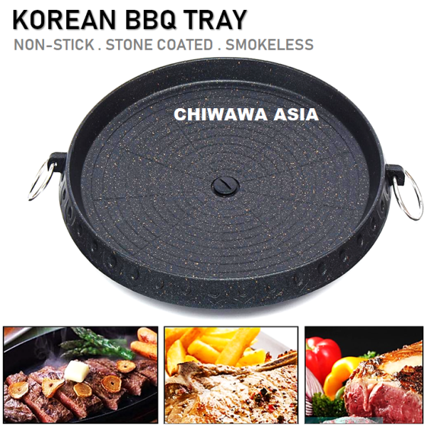 Korean BBQ Smokeless Non Stick Grill Pan Maifan Stone Coating Griddle Barbecue Frying Plate Square Round Roaster Pot