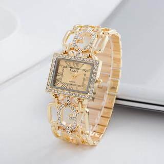 Đồng hồ đeo tay thạch anh mặt vuông tinh thể rỗng chất liệu thép không gỉ đính đá pha lê lấp lánh thanh lịch sành điệu dành cho nữ HiQueen - INTL thumbnail