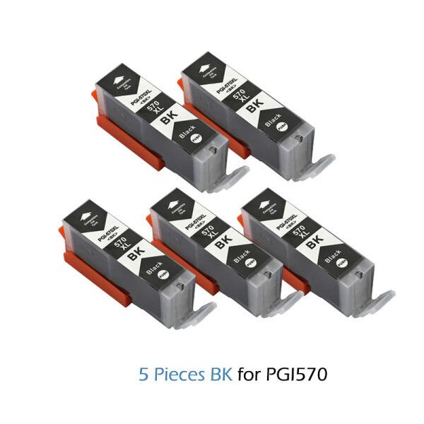 Bảng giá 5PCS Đen Pgi570 PGI 570 Hộp Mực Tương Thích Cho Canon Pixma Mg5750 Mg5751 Mg5753 Mg6850 Mg6851 Mg6852 Mg7750 Pgi-570 (Màu Đen) Phong Vũ