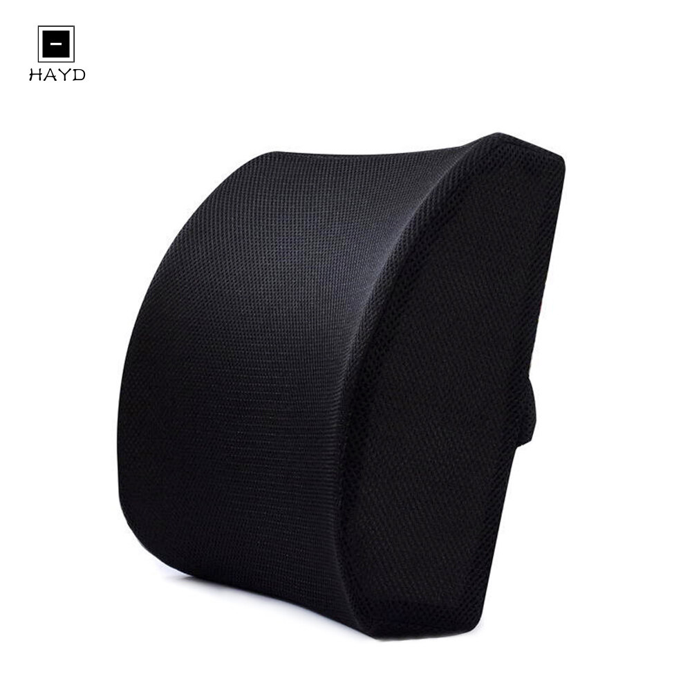 HAYD 【cod】 Memory Foam Seat Chair Lumbar Back Support Cushion for Office Home Car In stock