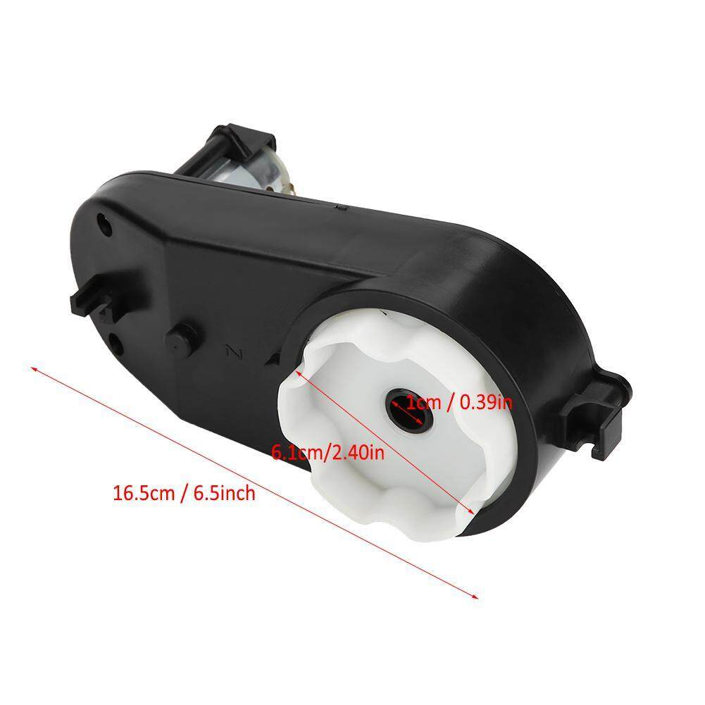 RS390 Electric Motor Gearbox 6V//12V 12000-20000RPM For Kids Car Toy Black New