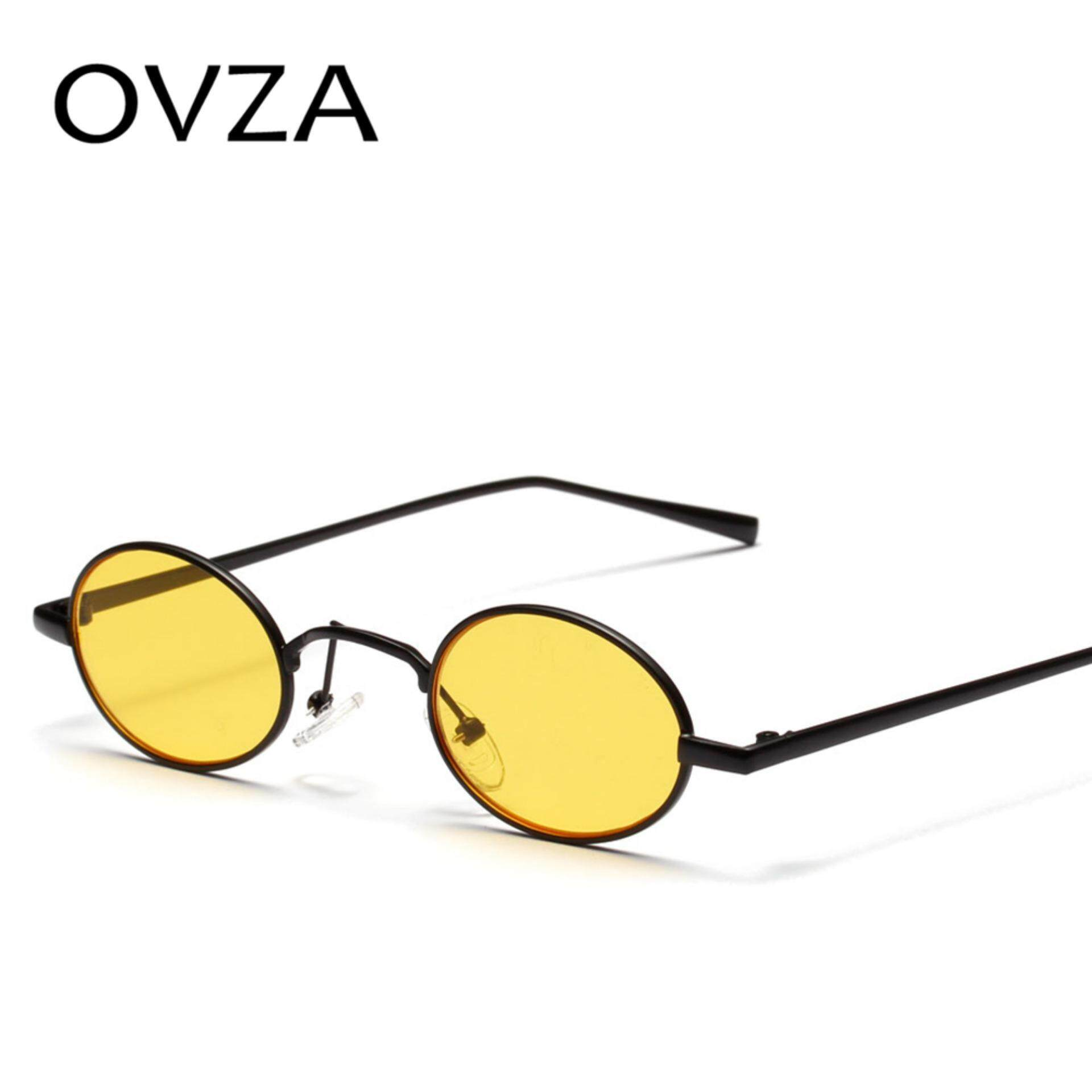 1ad202d0a3c OVZA Retro Oval Sunglasses Women Punk Style Small Sunglasses for Men Metal  Narrow Glasses Red Vintage