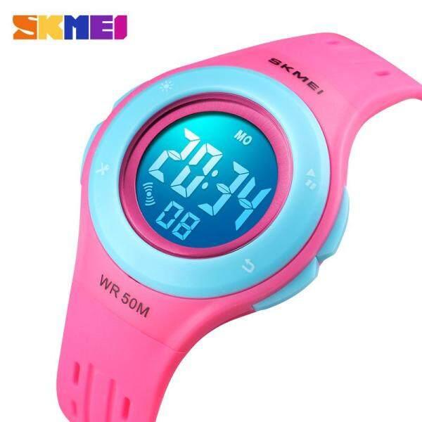 SKMEI New Kids Sports Watch Children Boys Girls Swimming Sports Digital Wrist Watch Waterproof Multifunction Alarm LED Digital Wristwatches 1455 Malaysia