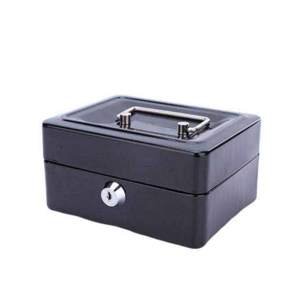 Practical Mini Petty Cash Money Box Stainless Steel Security Lock Lockable Safe Small Fit for House Decoration