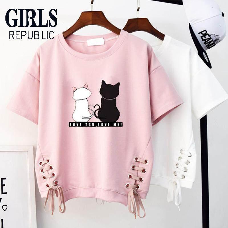 cfb1a2c10e Girls Republic Spot Wholesale women's Korean tops women Short-sleeved t-shirt  loose new