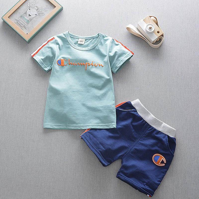 Baby Kids Boys Casual Clothing Sets Cotton Cartoon Short Sleeve T-shirt Tops + Shorts Pants Summer Clothes