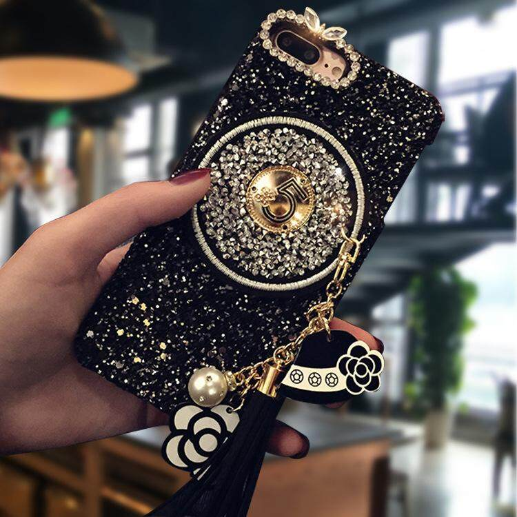 f857cc680d Product details of Phone Case for iPhone SE / 5S / 5 Glitter Powder Rhinestone  Decor PU Leather Coated PC Case for iphone 6 6s 6S PLUS 6 Plus 7 8 7plus/8  ...