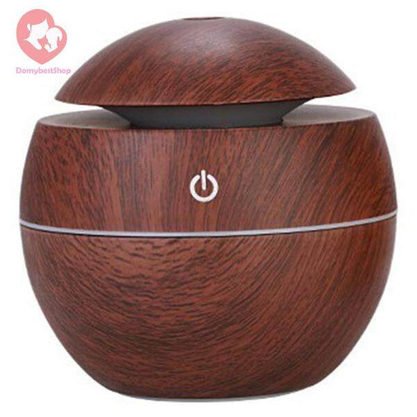 130mL Wood Grain Humidifier Aromatherapy Diffuser Essential Oil Mist Maker Singapore