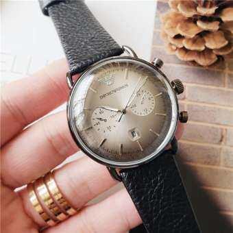 Original_Armani สำหรับทั้งหญิงและชายสามเข็มออกแบบนาฬิกาควอตซ์