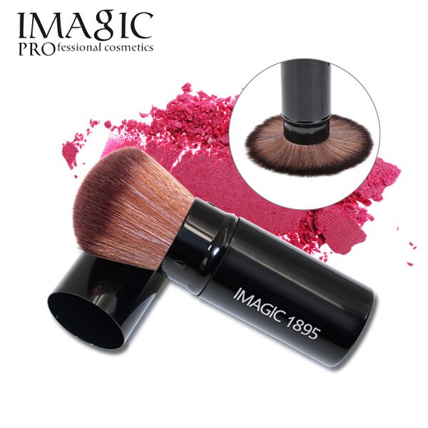 Một chiếc cọ trang điểm chuyên nghiệp Idic với tay cầm bằng nhôm và đầu cọ bằng ni lông mịn thích hợp để đánh má hồng - INTL nhập khẩu
