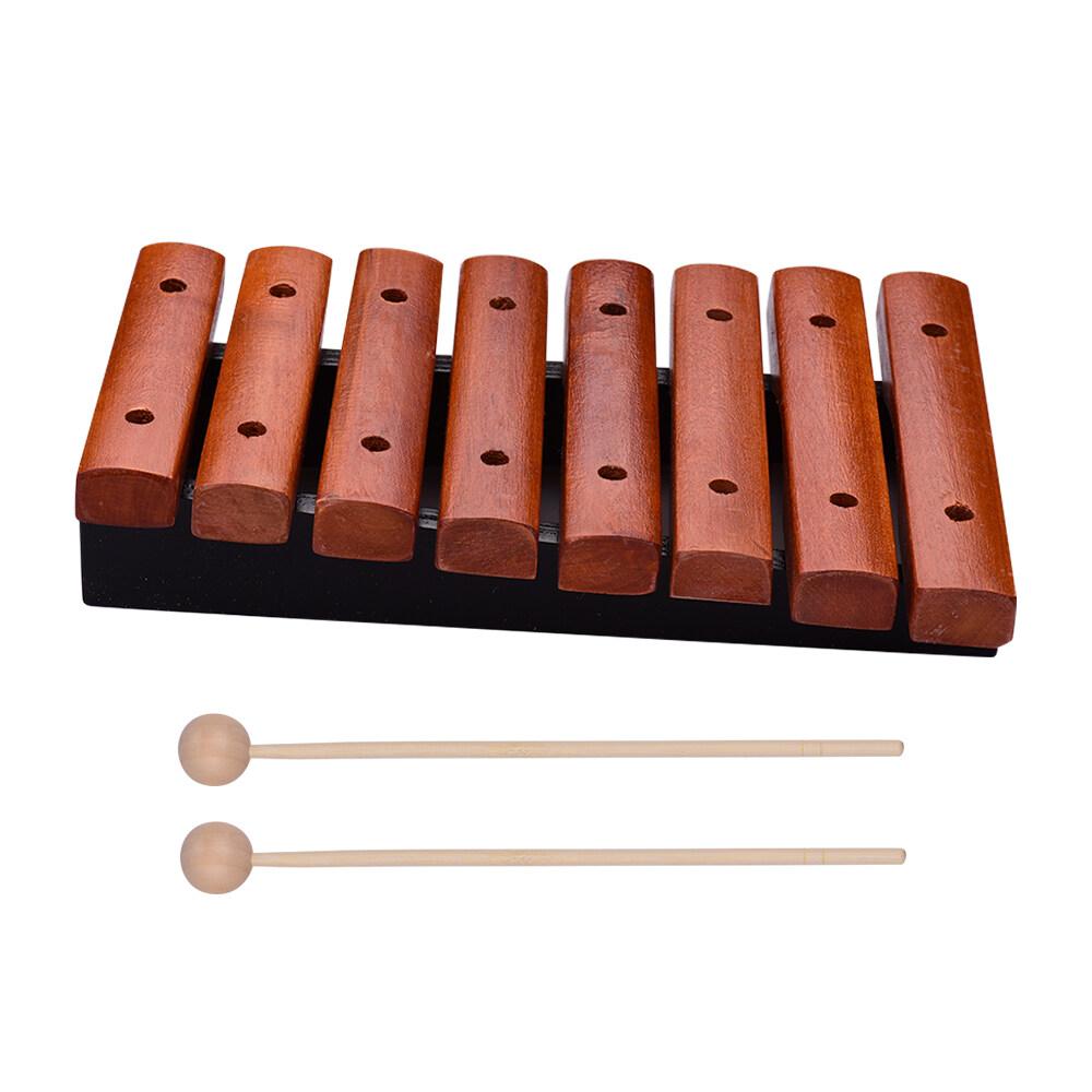 Nhạc Cụ Xylophone Gỗ 8 Nốt Bao Gồm 2 Vồ Gỗ Cho Trẻ Em Trẻ Em Giáo Dục Âm Nhạc Đồ Chơi