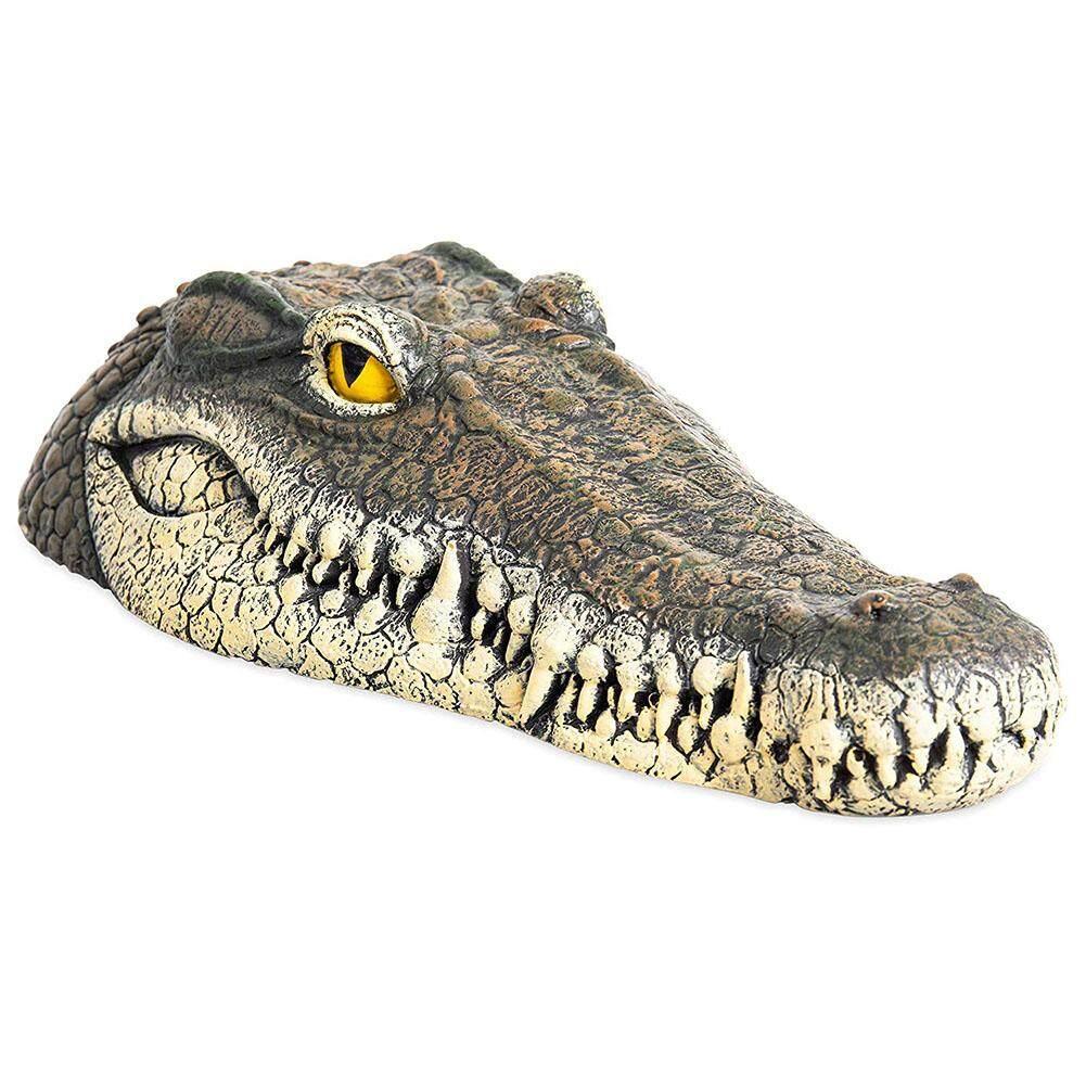 Cá Sấu Nổi Đầu Vườn Ao Hồ Thực Tế Nước Tính Năng Trang Trí Bể Trang Trí Nổi Nhựa Đầu Cá Sấu Vườn Hoặc AO Nghệ Thuật trang Trí