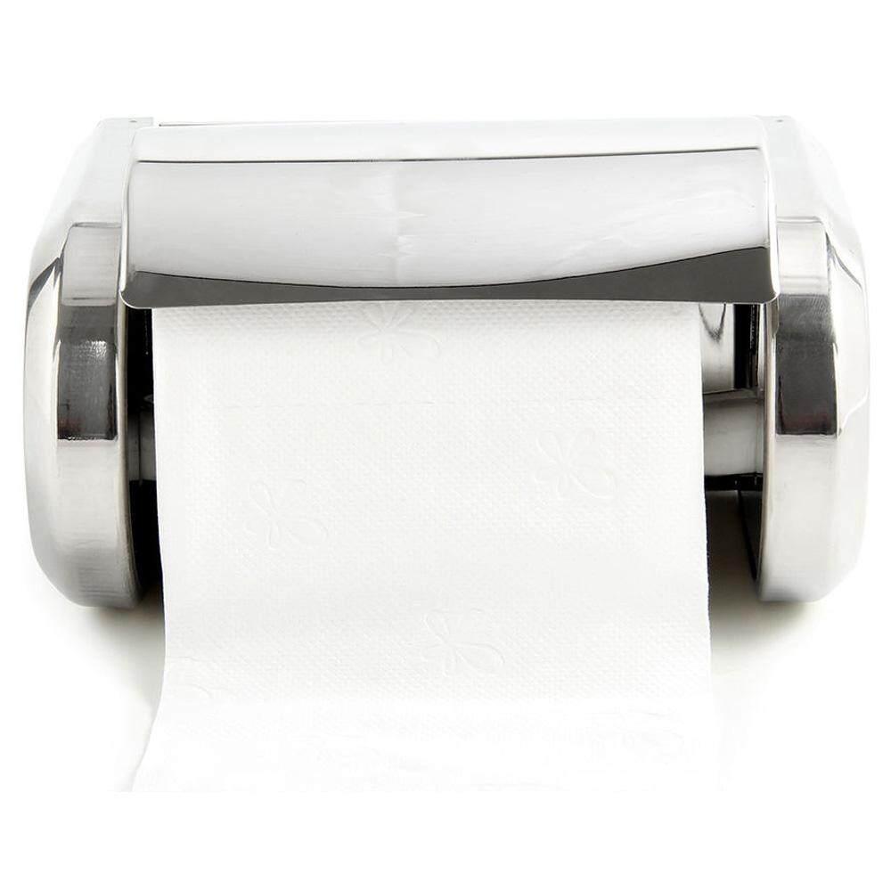 Bathroom Hardware 2pcs Paper Towel Holder Dispenser Under Cabinet Paper Roll Holder Rack Without Drilling For Kitchen Bathroom