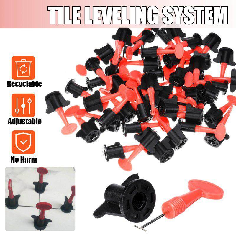 50 Sets Plastic Ceramic Leveler Tools T Leveling System Kits For Tiles