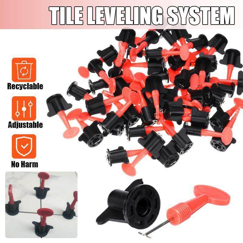 50 Sets Plastic Ceramic Leveler Tools T Leveling System Kits For Tiles