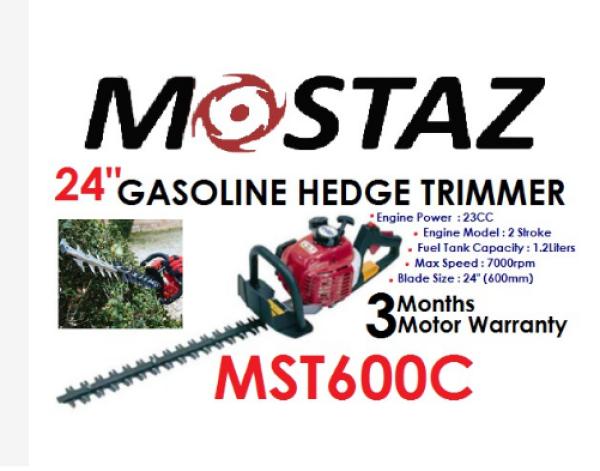 MOSTAZ MST600C 24 Gasoline 2Stroke Hedge Trimmer (23cc)