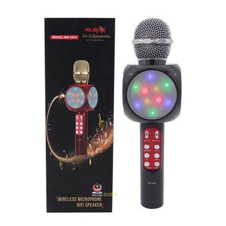 Black Wster Ws1816 Karaoke Ktv Mic Portable Bluetooth Speaker Microphone Ws-1816 Ws858 Ws878 By Future Gadget.